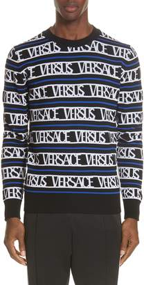 Versace Logo Wool Blend Sweater