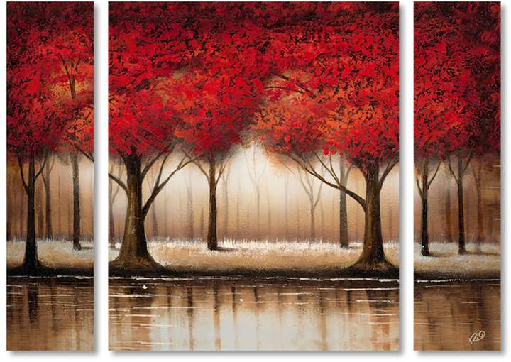 Rio 'Parade of Red Trees' Multi Panel Art Set Large