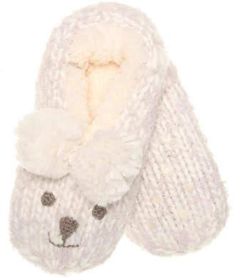 Lemon Bear Slipper Sock - Women's