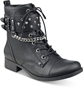 G by GUESS Braxton Moto Ankle Booties $79 thestylecure.com
