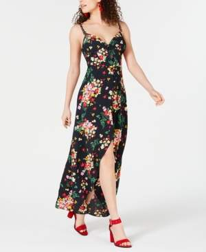 B. Darlin Juniors' Printed Button-Front Maxi Dress