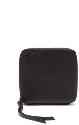 Loewe Zip Around Leather Wallet - Womens - Black Multi