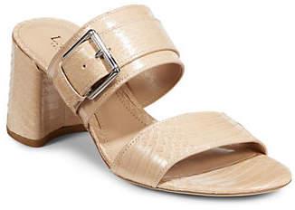 Lauren Ralph Lauren Leather Buckle Sandals