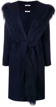 P.A.R.O.S.H. oversized fur trim coat
