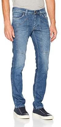 Jeckerson Men's 5Pkts Patch Authentic DNM 1/2 Oz Slim Jeans,(Size: 33)