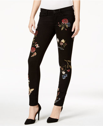 Buffalo David Bitton Faith Floral Black Rinse Skinny Jeans $118 thestylecure.com