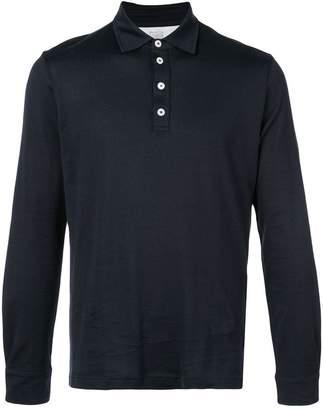 Eleventy long-sleeved polo shirt