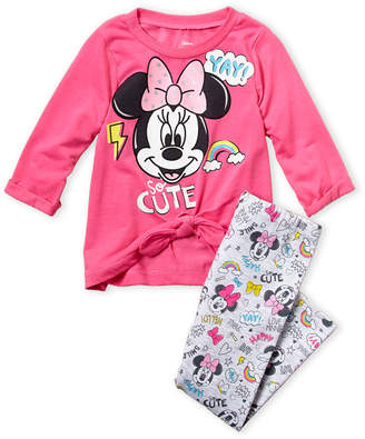 8b5b473e792f8 Minnie Mouse (Infant Girls) Two-Piece Minnie Bow Top & Leggings Set
