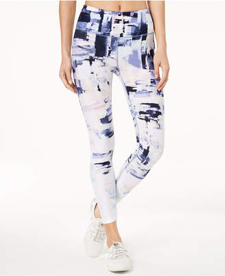 Calvin Klein Collage-Print Ankle Leggings