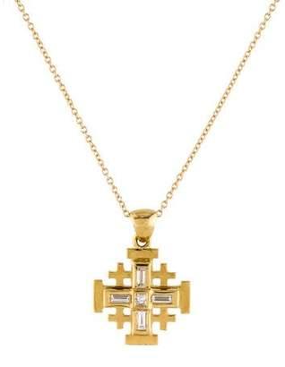 Reiss I. Diamond Cross Pendant Necklace