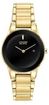 Citizen Eco-Drive Axiom Goldtone Stainless Steel Bracelet Watch
