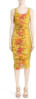 Women's Fuzzi Farfalla Print Ruched Tank Dress $435 thestylecure.com