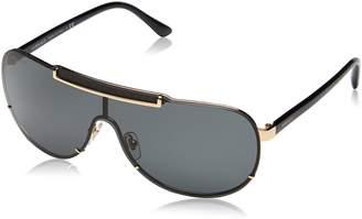 Versace Men's VE2140-100287-40 Shield Sunglasses