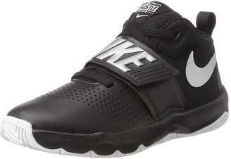 Nike Boys' Team Hustle D 8 (GS) Basketball Shoe, Black/Metallic Silver-White