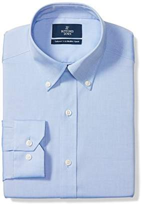 Buttoned Down Men's Tailored Fit Button Collar Solid Non-Iron Dress Shirt