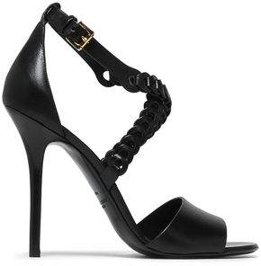 Michael Kors Woven And Smooth Leather Sandals