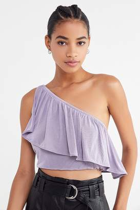 Urban Outfitters Ivy One-Shoulder Cropped Top