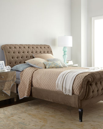Haute House Taupe Tufted Queen Bed