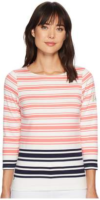 Joules Harbourhemblk Printed Jersey Top Women's Long Sleeve Pullover