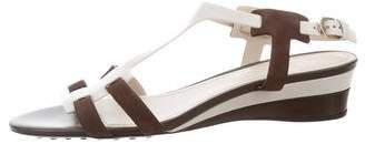 Tod's Leather & Suede Sandals