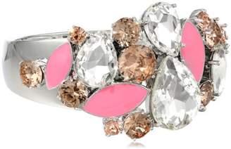 """Kate Spade Frosty Floral"""" Encrusted Hinge Bangle Bracelet"""