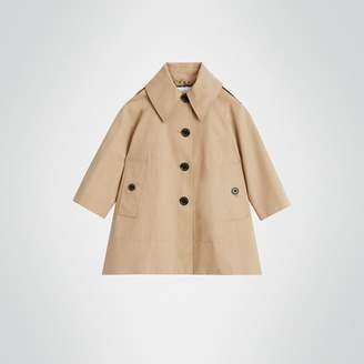 Burberry Detachable Hood Showerproof Cotton Swing Coat , Size: 6Y