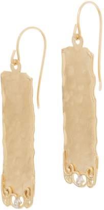 ADI Paz 14K Gold Hammered & Filigree Dangle Earrings