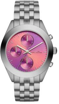 Marc by Marc Jacobs Peeker Stainless Steel Chronograph Bracelet Watch/Fuchsia $225 thestylecure.com