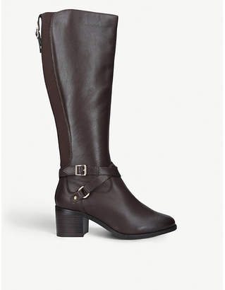 Nine West Raleigh buckle-detail leather boots