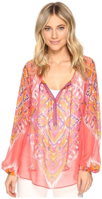 Hale Bob - The Sweetspot Washed Silk Georgette Top Women's Clothing $216 thestylecure.com