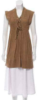 Etoile Isabel Marant Belted Pintucking Tunic