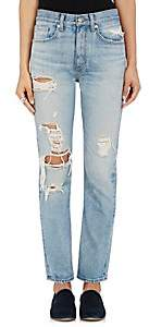 Brock Collection Women's Distressed Straight Jeans - Distressed