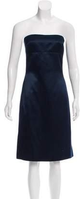 Peter Som Silk Strapless Dress
