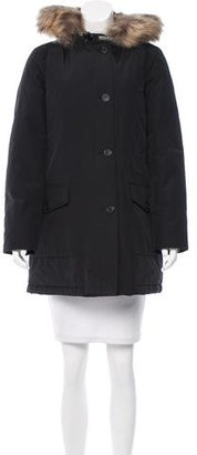 Woolrich Fur-Trimmed Down Parka w/ Tags $395 thestylecure.com