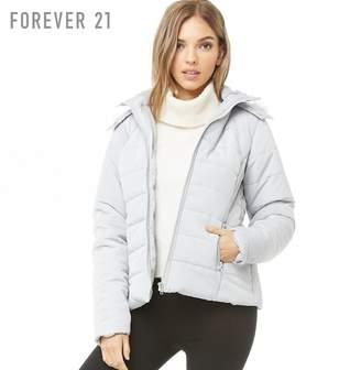 Forever 21 (フォーエバー 21) - Forever 21 フェイクファーパファージャケット