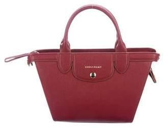 Longchamp Small Heritage Grained Leather Satchel
