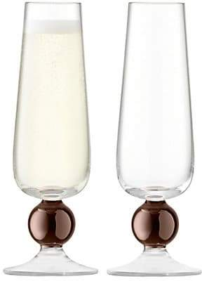 LSA International Two-Piece Oro Champagne Flutes