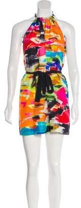 Trina Turk Multicolored Abstract Print Mini Dress