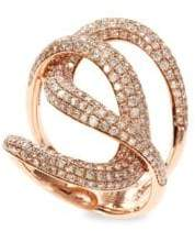 Effy Diamond And 14K Rose Gold Ring