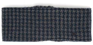 Maison Michel Tod Dogstooth Wool Blend Headband - Womens - Blue