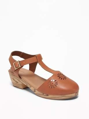 6deaba02e2d Old Navy T-Strap Laser-Cut Sandals for Girls