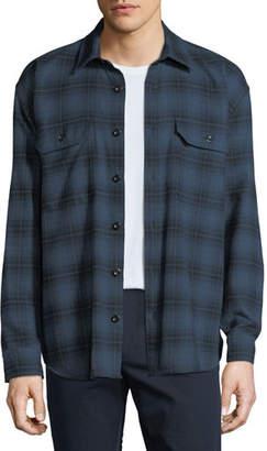 Vince Men's Two-Tone Plaid Overshirt