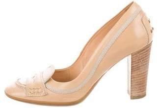 Tod's Leather Round-Toe Pumps