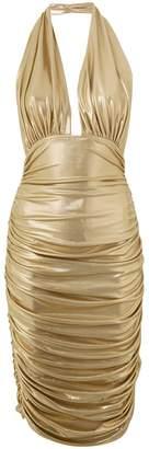 Norma Kamali midi halter dress