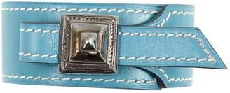 Hermes Vintage Blue Leather Bracelets