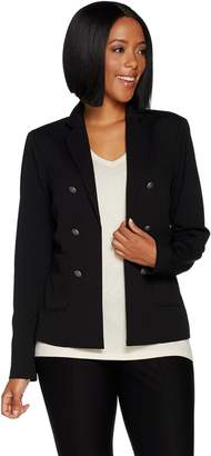 Lisa Rinna Collection Open Front Blazer with Pockets
