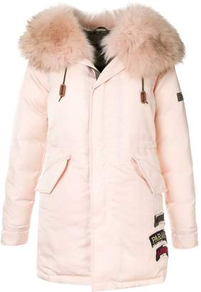 Mr & Mrs Italy fur-trim hooded parka coat