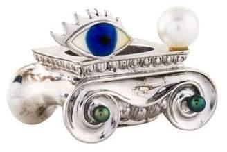 Delfina Delettrez Pearl & Enamel Solar Enigma Ring