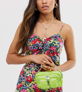 Helena Nunoo Crossbody Bag in Bright Lime Leather