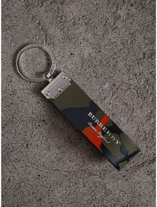 Burberry Splash Trench Leather Key Ring